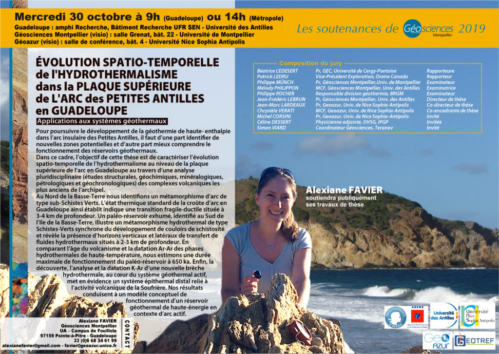 Affiche Soutenance Alexiane Favier 30-10-2019
