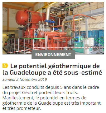 Le potentiel géothermique de la Guadeloupe a été sous-estimé